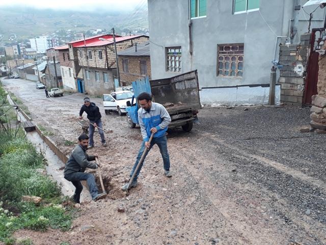 سیل به زیرساخت های شهری کیاسر خسارت زد