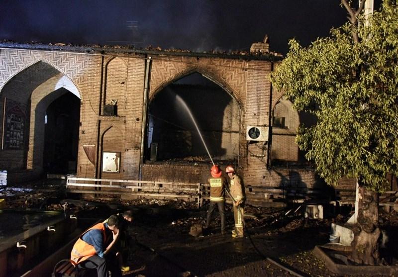 روایت تصویری و تشریحی از آتشی که به جان قدیمی ترین مسجد تاریخی شمال ایران افتاد
