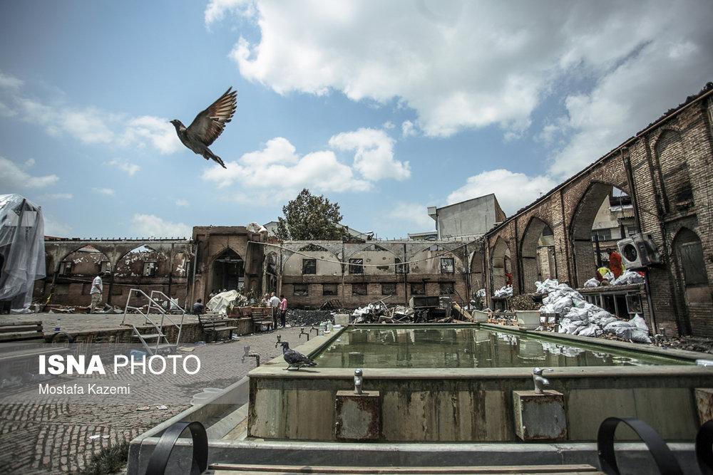 مسجد جامع ساری؛ پس از آتش سوزی
