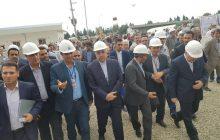 بهره برداری از بخش گاز نیروگاه سیکل ترکیبی نوشهر با حضور وزیر نیرو