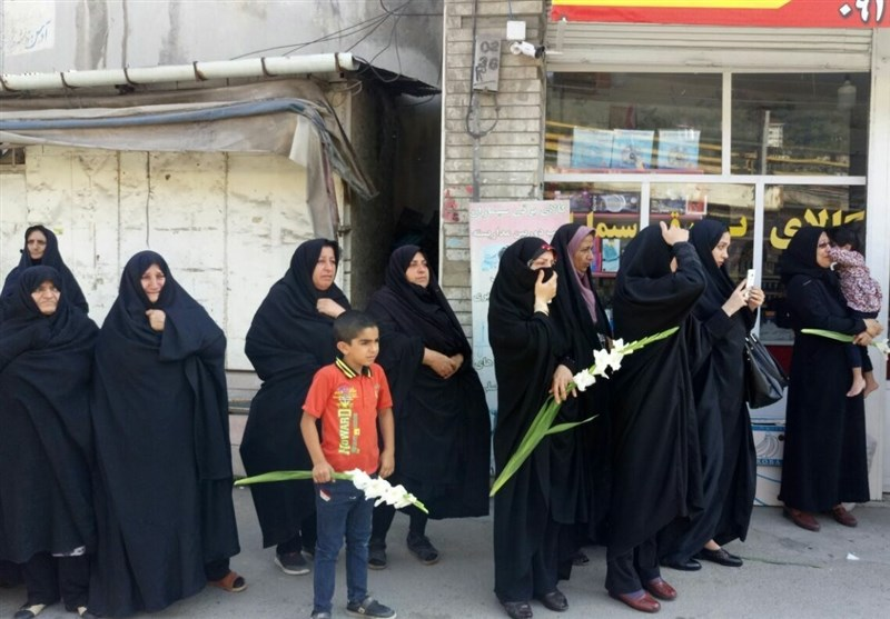 ورود پیکرهای مطهر شهدای گمنام به مازندران