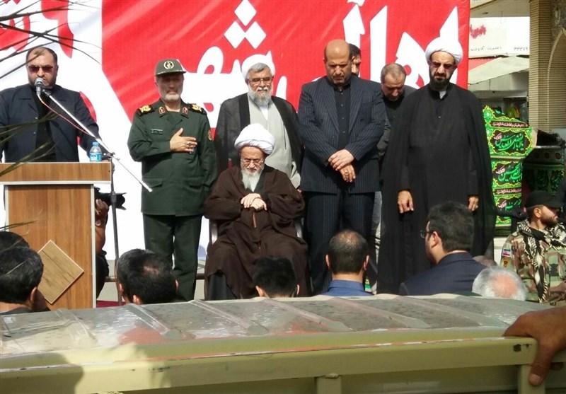 وداع جانانه مردم مازندران با شهدای گمنام دفاع مقدس