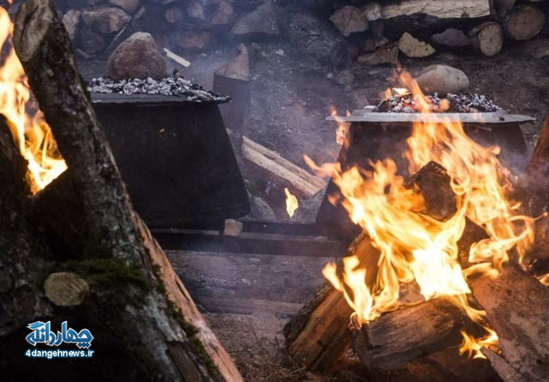 طبخ غذای نذری کیاسریها نماد اطعام دهی مردمان این دیار به عاشقان سالار شهیدان+ تصاویر