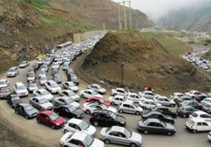 جادههای مازندران در عصر پنج شنبه ۱۵ شهریورماه همچنان همراه با ترافیک سنگین