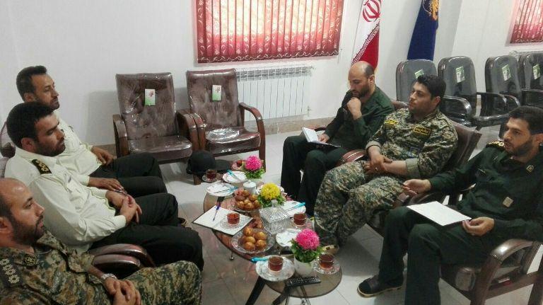 جلسه مشترک فرماندهان نیروی انتظامی با فرماندهان سپاه بخش چهاردانگه
