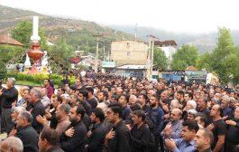 گزارش تصویری از عزاداری شهر کیاسر در روز عاشورا
