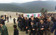 تشییع پیکر مطهر شهید گمنام در شهر کیاسر و روستاهای بخش چهاردانگه