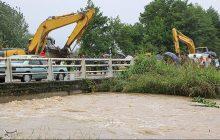 رودخانه صفارود رامسر در آستانه طغیان؛ مردم از این رود فاصله بگیرند
