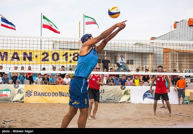 مسابقات تور جهانی تک ستاره والیبال ساحلی در مازندران آغاز شد