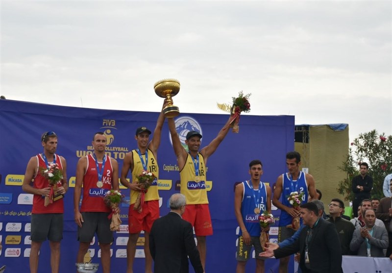 مازندران| ایران قهرمان تور جهانی تک ستاره والیبال ساحلی شد
