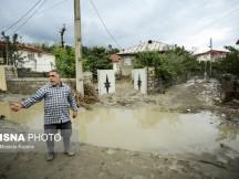 گزارش تصویری از خسارات سیل به روستاهای  بخش چهاردانگه
