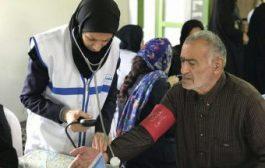 """گزارش تصویری ،کاروان سلامت"""" همت عالی """" در روستای خاریک شهرستان ساری"""