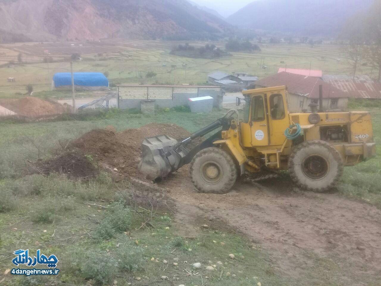 آغاز مرحله خاک برداری پروژه ساخت پاسگاه گرماب