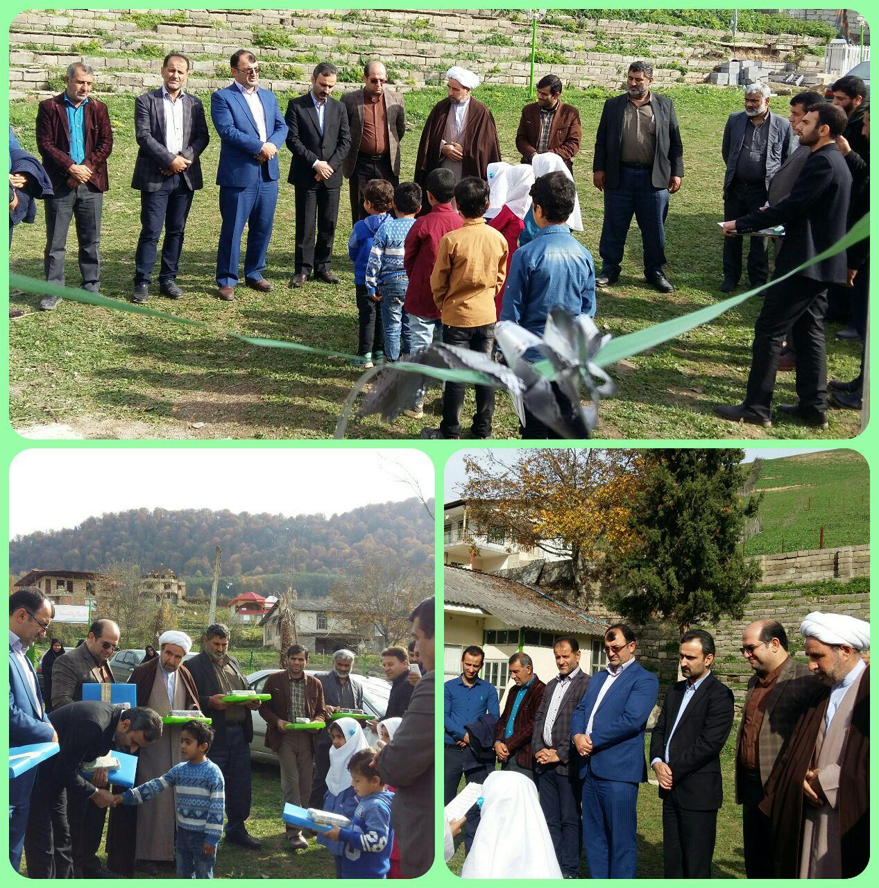 مراسم شکرانه بازگشایی مدارس شهدای الیرد و صاحب الزمان ایول برگزار شد