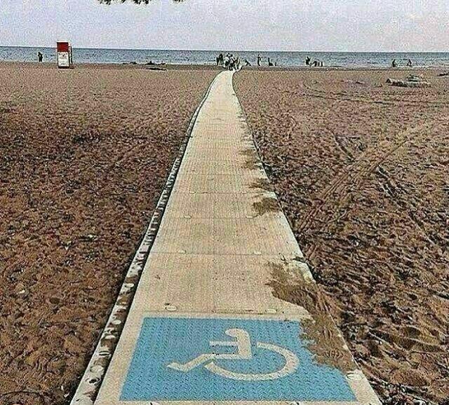 راهی که معلولان را مستقیم به دریا میرساند!