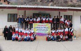 حضور کاروان یلدای مهربانی با همکارای هلال احمر استان مازندران و شهرستان ساری در دبستان  باباکلا چهاردانگه