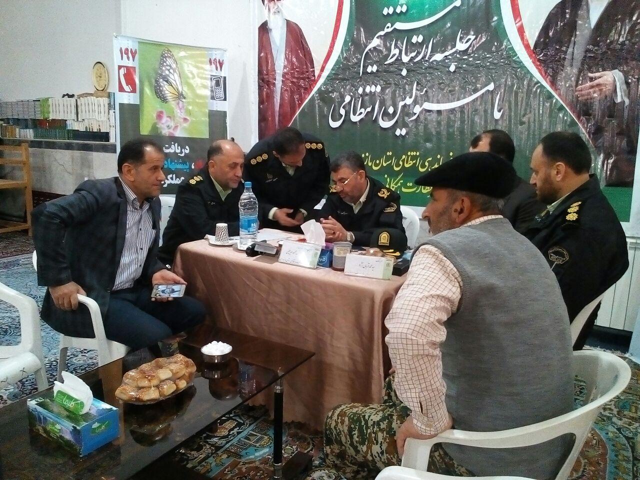 حضور سردار میر فیضی فرمانده انتظامی در بخش چهاردانگه + تصاویر