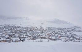 تصاویری از بارش برف در شهر کیاسر