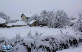 تصاویر زیبای برف زمستانی در روستای پرکوه دودانگه ساری