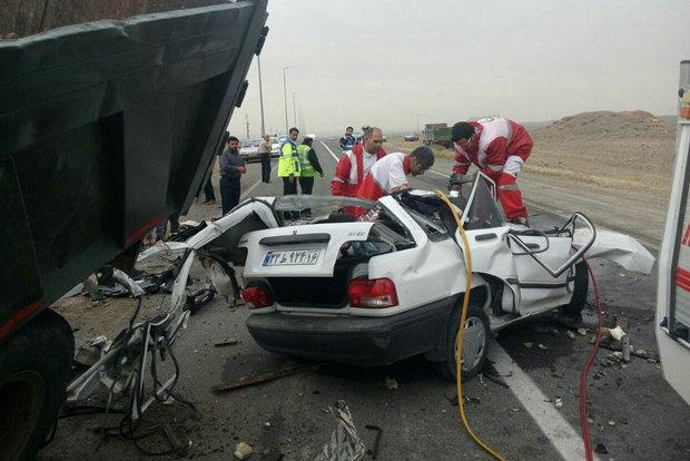 ۵ فوتی براثر تصادف در جاده کیاسر