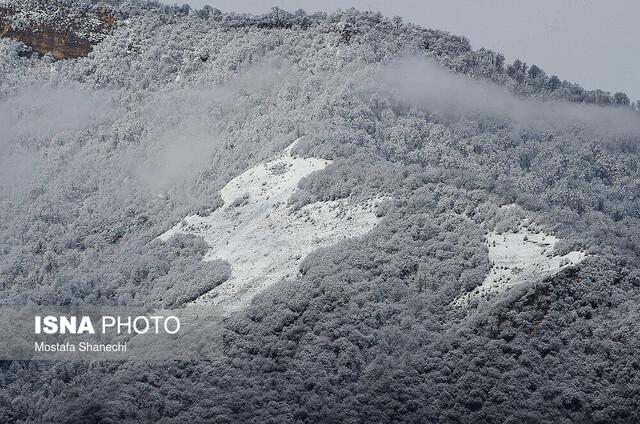 بارش برف در ارتفاعات مازندران