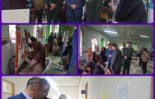 بازدید بخشدار چهاردانگه از نمایشگاه فرش و دوخت های تزیینی هنرستان حضرت خدیجه
