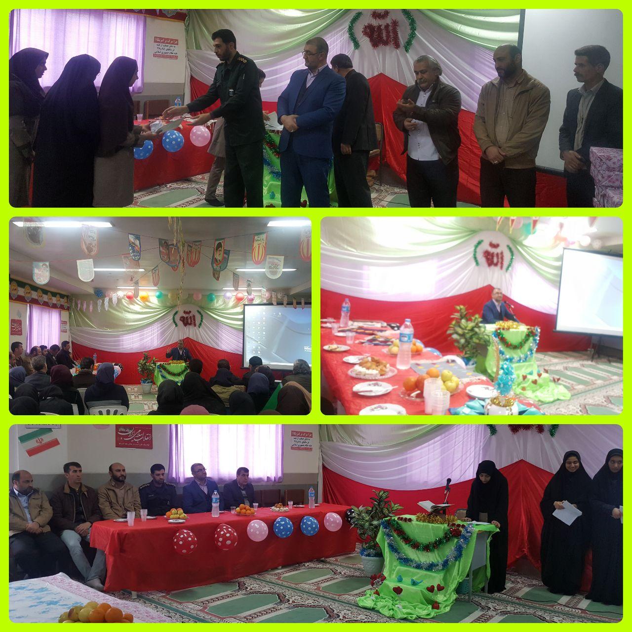 برگزاری جشن باشکوه پیروزی انقلاب اسلامی در دبیرستان های حضرت فاطمه(س) و حضرت خدیجه(س)