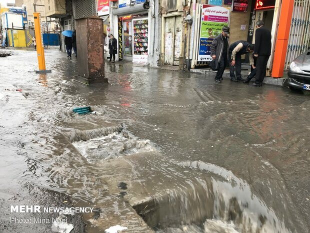 بارندگی شدید و آبگرفتگی در مازندران