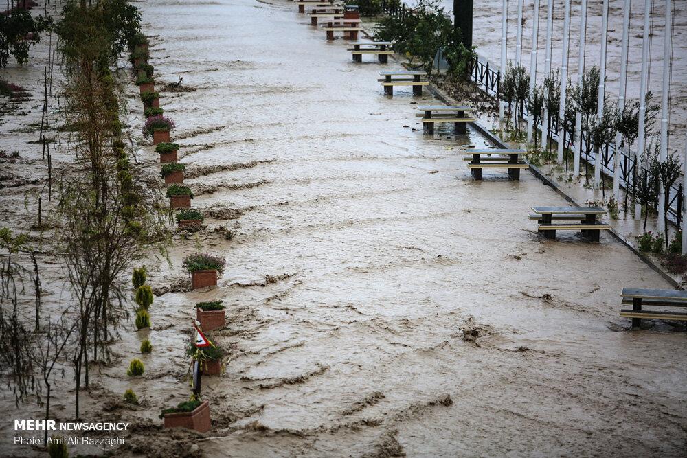 آبگرفتگی ۸ شهرستان/ رکوردشکنی بارش و برف در مازندران