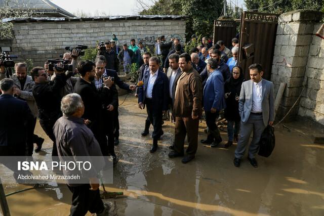 بازدید معاون اول رییس جمهور از مناطق سیل زده استان مازندران