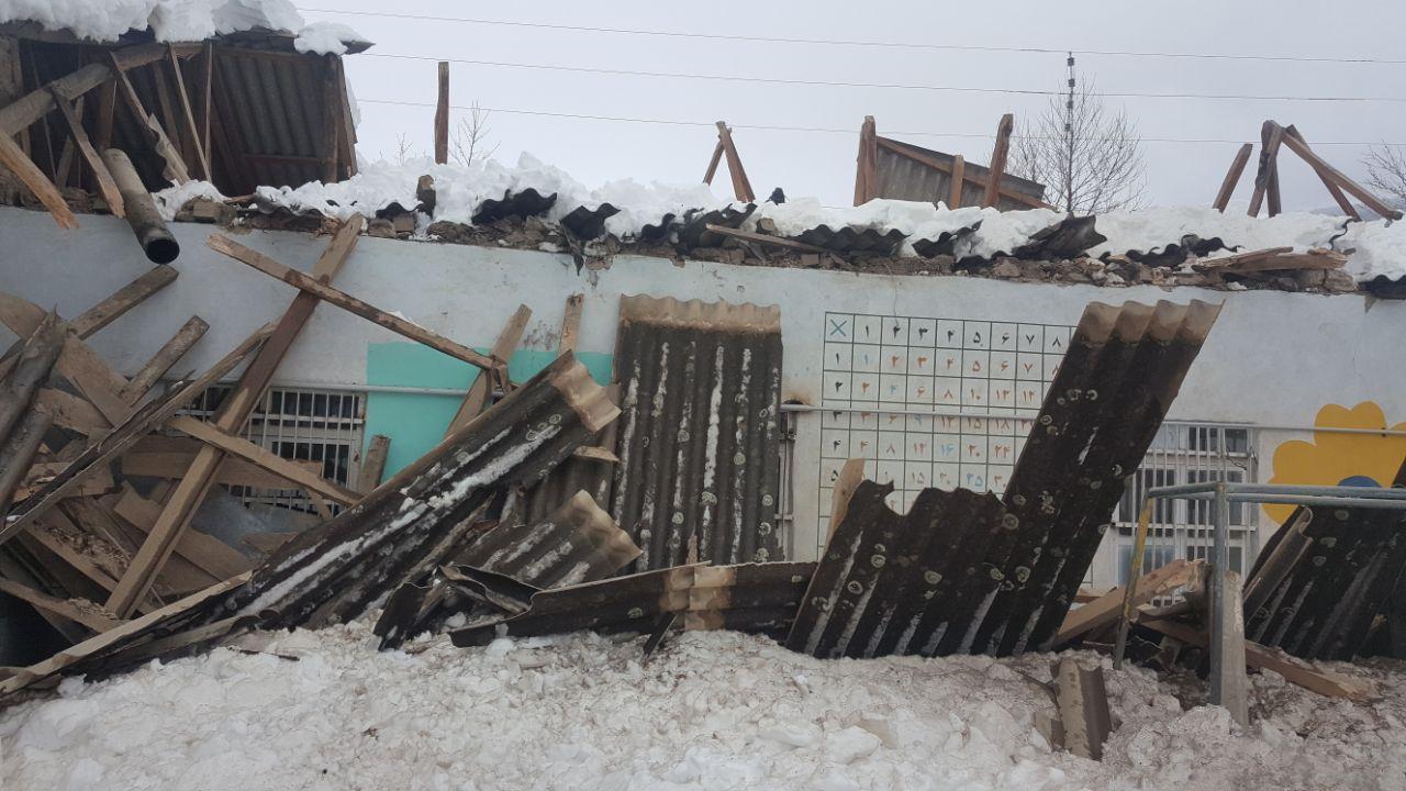 سقف مرکز اختلال یادگیری امید کیاسر ( شهید خانگاه سابق ) فرو ریخت