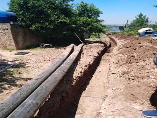 اجرای طرح آبیاری تحت فشار در باغهای روستاهی عقه خیل و کوات
