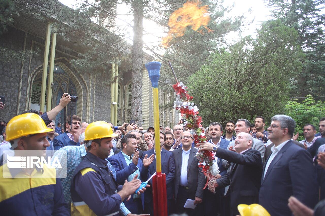 افتتاح گاز رسانی به شهر آلاشت