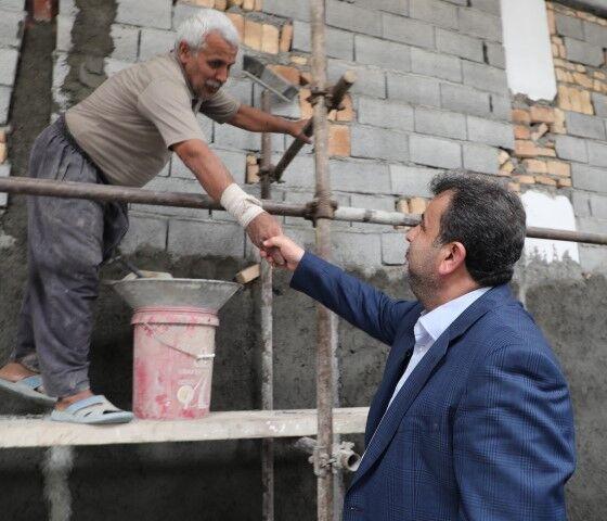 بازدید استاندار مازندران از بازسازی مناطق سیل زده