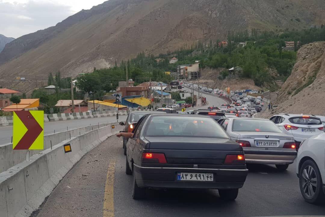 ترافیک به جاده های مازندران برگشت