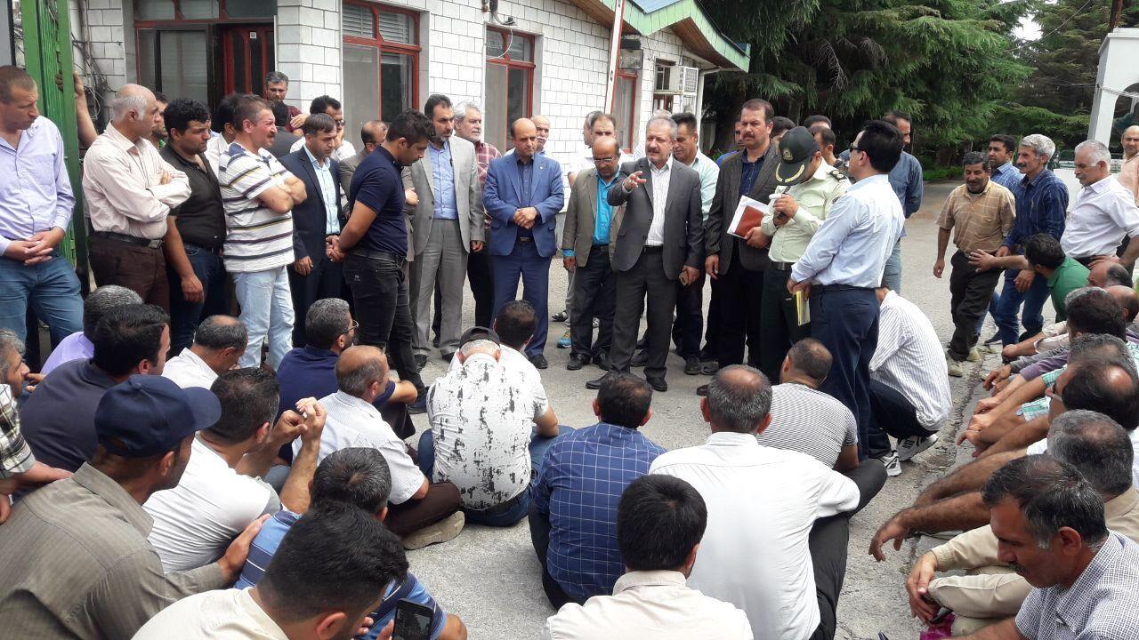 تمامی حق و حقوق جنگلبانان غرب مازندران پرداخت می شود