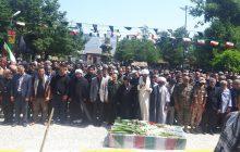 پیکر مطهر دو شهید گمنام در پارک کوثر سلمانشهر آرام گرفت