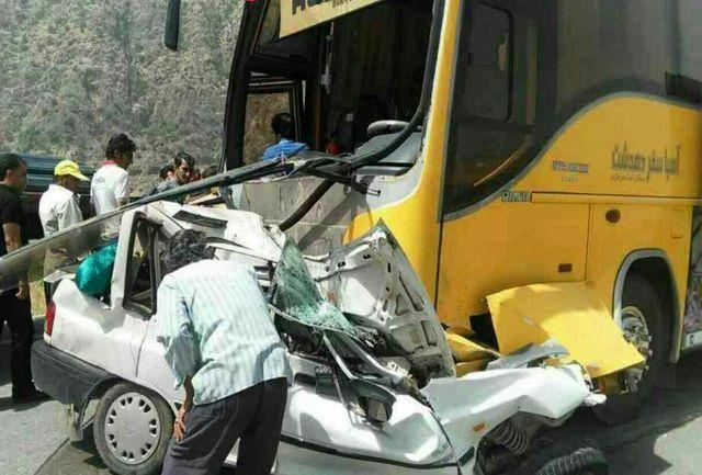 2 تصادف شبانه در مازندران یک کشته و 17 زخمی بر جای گذاشت