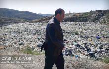 بازدید فرماندار از محل دفن زباله ساری در پشتکوه چهاردانگه