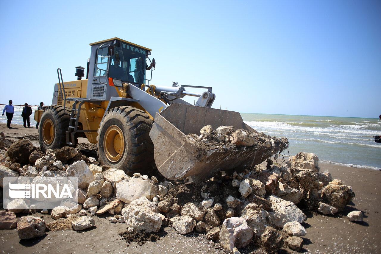 آغاز عملیات آزاد سازی بخشی از سواحل دریای خزر در ساری