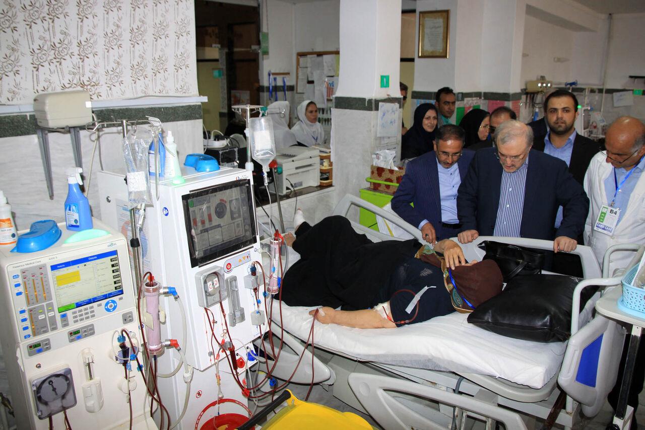 بازدید وزیر بهداشت از بیمارستان های نوشهر و چالوس