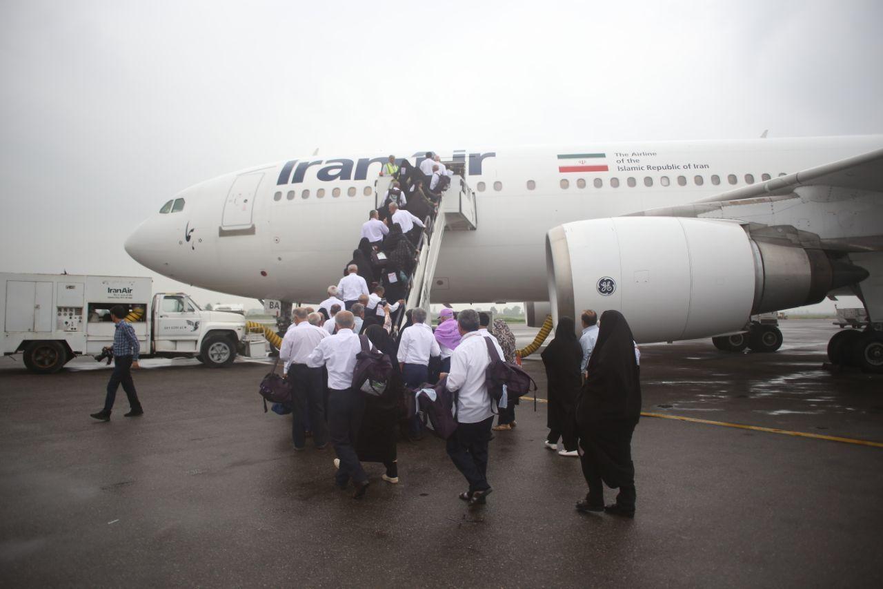 حادثهای برای هواپیمای زائران مازندرانی رخ نداد