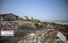 همنشینی زباله و ساحل در محمودآباد