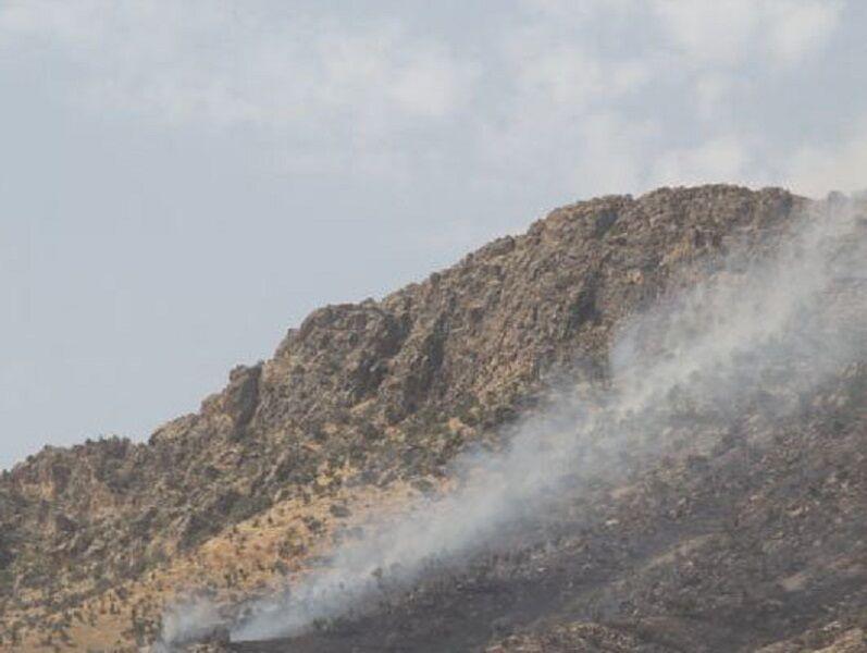 آتش سوزی مراتع ارتفاعات کیاسر خاموش شد