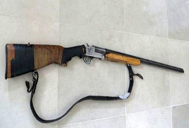 کشف و ضبط یک  قبضه سلاح شکاری در چهاردانگه