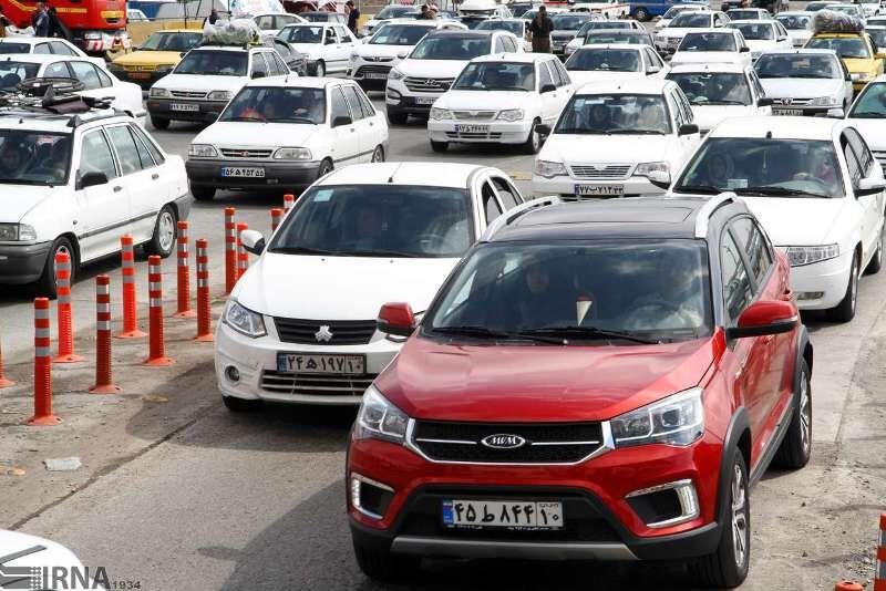 ترافیک سنگین در جادههای ورودی مازندران