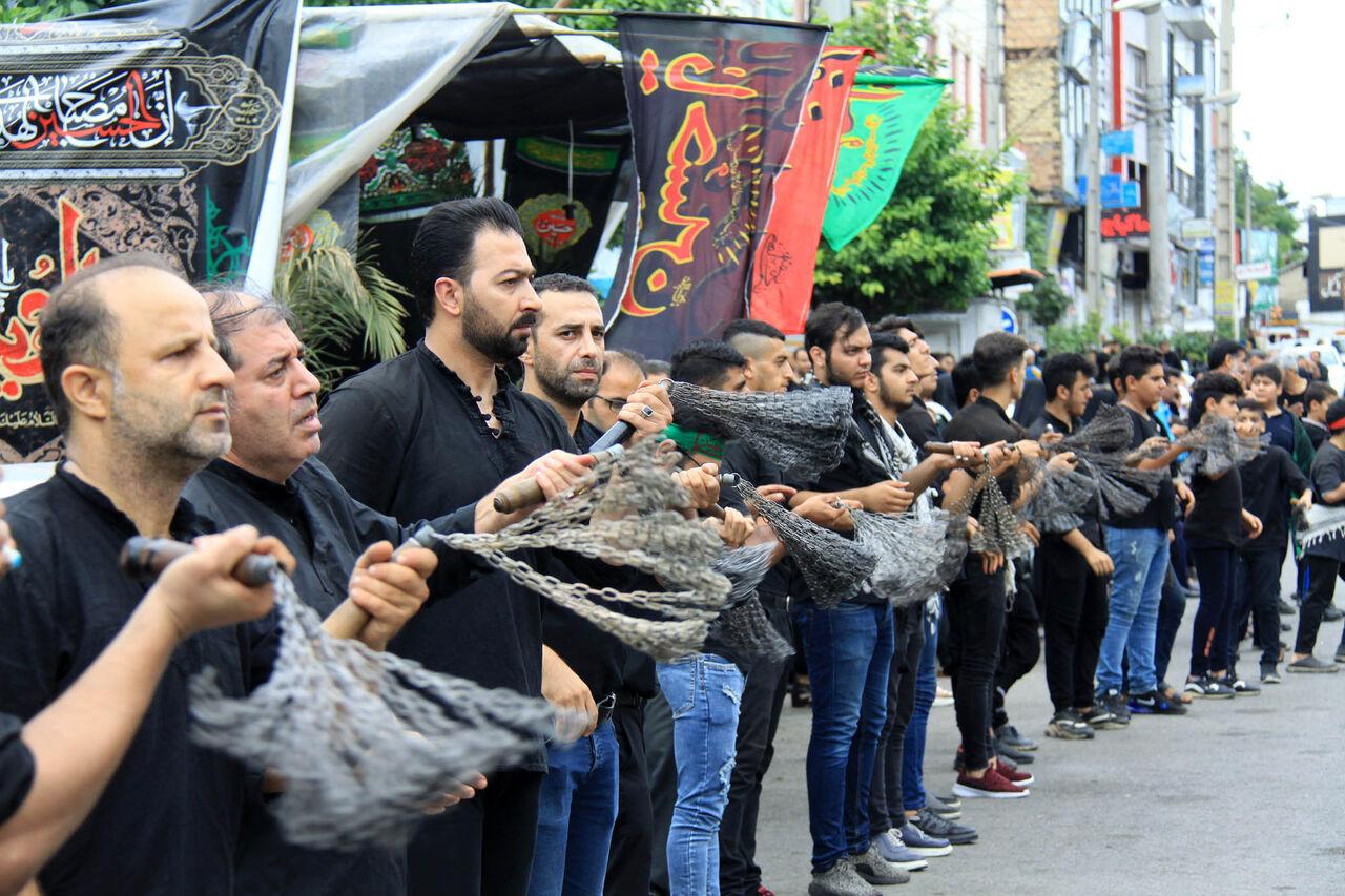 مراسم عزاداری روز عاشورای حسینی(ع) در چالوس