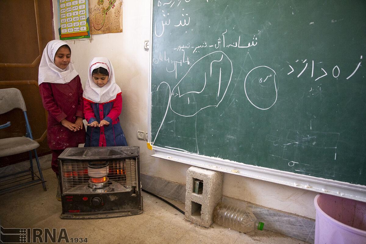 نفسهای آخر بخاریهای نفتی در کلاسهای درس مازندران