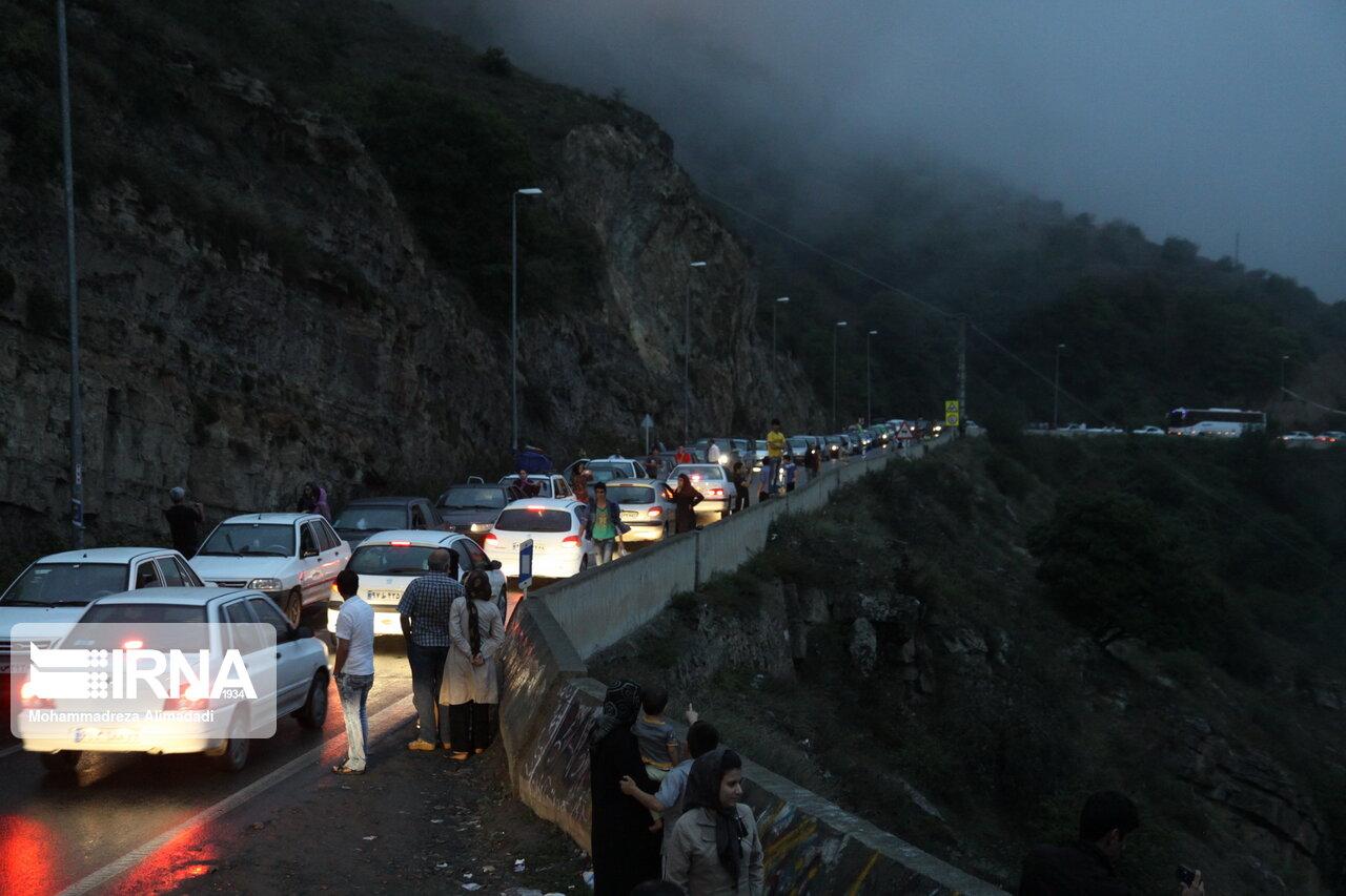 بازگشت ترافیک پایان هفته به جادههای مازندران