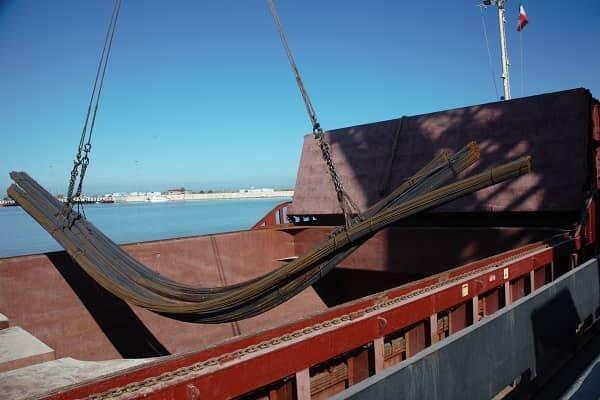 صادرات اولین محموله میلهگرد از بندر امیرآباد